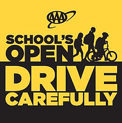 AAA Schools Open Drive Carefully Campaign logo