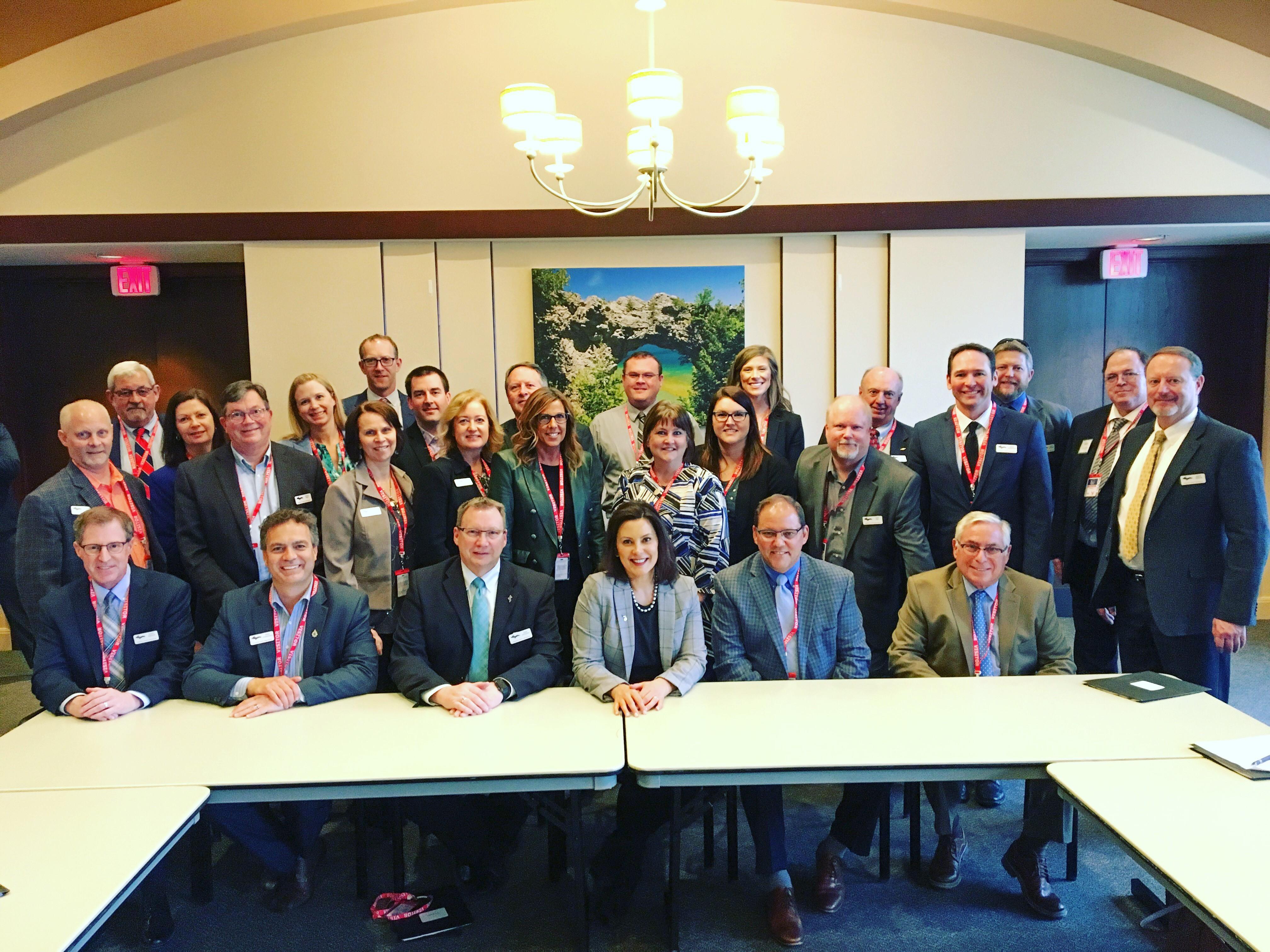 Ambassadors with Governor whitmer