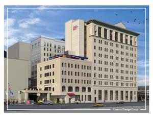 Downtown Flint Hotel Rendering
