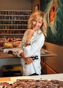 Mia Tavonatti in her studio
