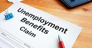 unemployment-benefits-claim-stack-documents-179827671 Cropped
