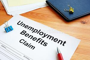 unemployment-benefits-claim-stack-documents-179827671
