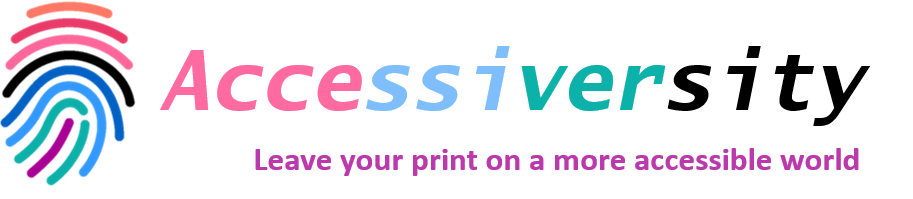 Accessiversity Logo With Tag Line