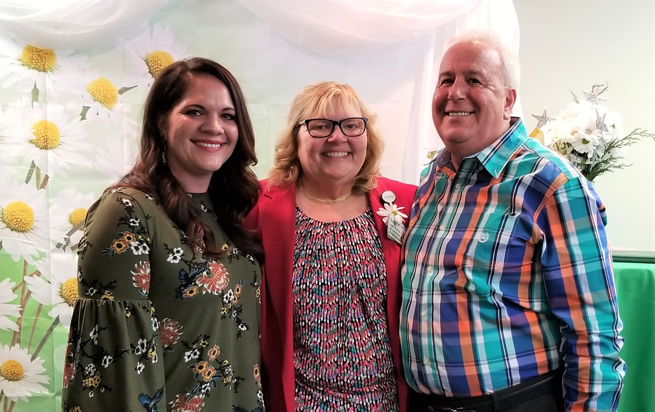 Beth Daugherty received a surprise visit from daughter, Molly Galloway, and husband, Roger, at the DAISY Lifetime Achievement Award ceremony.