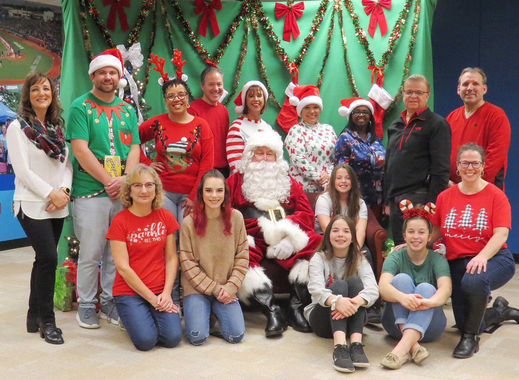 LAFCU employees took on the role of Santa's helpers for the credit union's annual Breakfast with Santa.